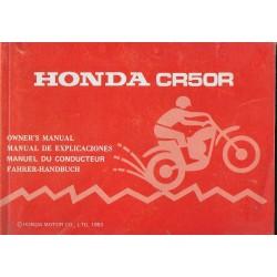 HONDA CR 50 R de 1983 (manuel utilisateur 09 / 1982)