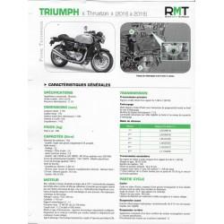 """TRIUMPH """"Thruxton"""" 1200cc (2016 à 2019) Fiche RMT"""