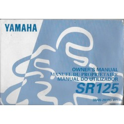 YAMAHA SR 152 (type 3MW 1996) Manuel propriétaire