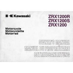 KAWASAKI ZRX 1200 / R / S (ZR1200-A1-B1-C1) de 2002 (08 / 01)