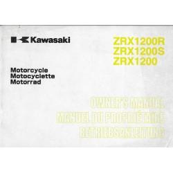 KAWASAKI ZRX 1200 / R / S (ZR1200-A2-B2-C1) de 2002 (07 / 01)