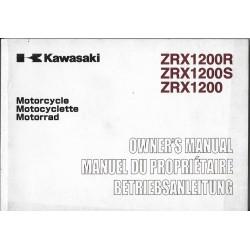 KAWASAKI ZRX 1200 / R / S (ZR1200-A3-B3-C2) de 2003 (08 / 02)