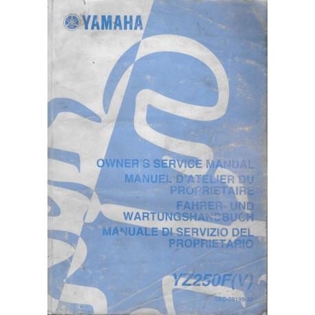 YAMAHA YZ 250 F (V) / LC 2006 type 5XC (manuel atelier)