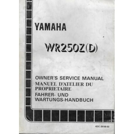 YAMAHA WR 250 Z (D) 1992 type 4DC