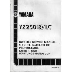 Manuel atelier YAMAHA YZ 250 (B) LC de 1991 type 3XK