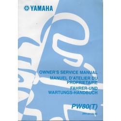 YAMAHA PW 80 (T) Type 3RV de 2005 (Manuel atelier 4 / 2004)