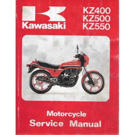 Manuel atelier KAWASAKI KZ 400, 500, 550 de 1979 à 1982