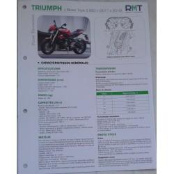 """TRIUMPH """"Street Triple S 660"""" (2017 à 2019) Fiche RMT"""