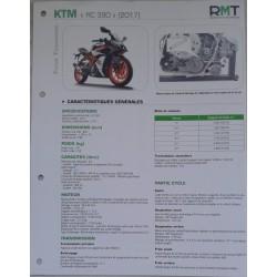 """KTM """"RC 390"""" (2017) Fiche RMT"""