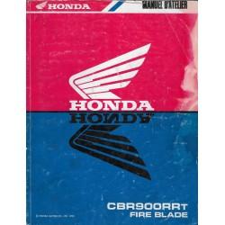 HONDA CBR 900 RRT de 1996 (Manuel atelier 11 / 1995)