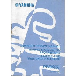 YAMAHA PW 80 (S) Type 3RV de 2004 (Manuel atelier 4 / 2003)