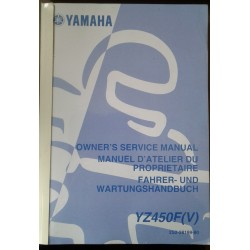 YAMAHA YZ 450 F (V) de 2006 type 2S2