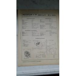 NORTON 600cc type 99 (motofiche 2 pages du 20 / 09 / 1965)