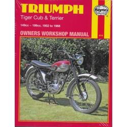 TRIUMPH Tiger Cub & Terrier (Manuel atelier 1952 à 1968)