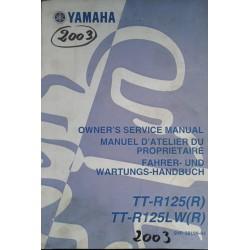 YAMAHA TT-R 125(R) / LW -R)) type 5 HP modèle 2003