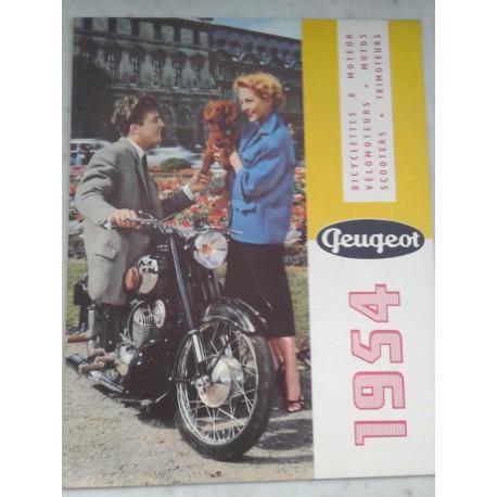 PEUGEOT gamme motorisés 1954 (catalogue 16 pages)