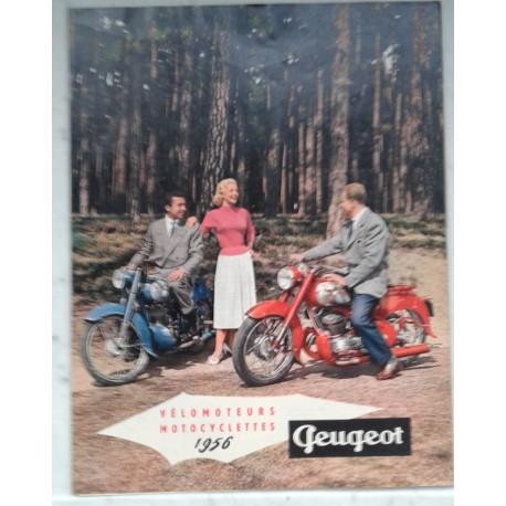 PEUGEOT gamme motorisés 1956 (catalogue 6 pages)