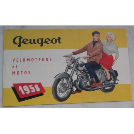 PEUGEOT gamme motorisés 1958 (catalogue 12 pages)