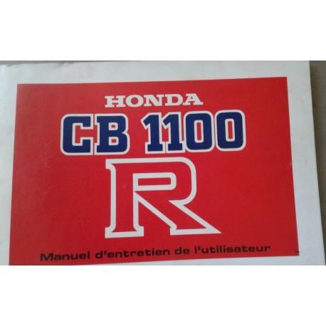 HONDA CB 1100 R de 1981 (manuel utilisateur 09 /1980)