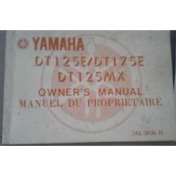 YAMAHA DT 125 E / DT 125 / DT 125 MX de 02 / 1977