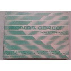 HONDA CB 400 FOUR (manuel du conducteur 1974)