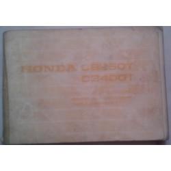 HONDA CB 250 / 400 T de 1978 (manuel utilisateur 10/ 1977)