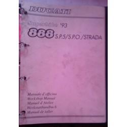 DUCATI 888 SP5 - SPO - STRADA (manuel atelier 03 / 1993)