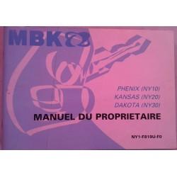 MBK (notice emploi Phénix - Kansas - Dakota) 02 / 2003