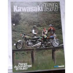 Kawasaki gamme motos de 1976 (prospectus occasion)