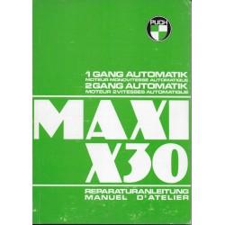 PUCH Maxi et X30 (manuel atelier)