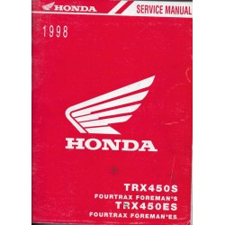 HONDA TRX 450 S / ES de 1998 (Manuel atelier 03 / 1998)