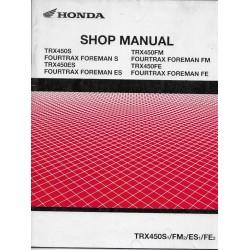HONDA TRX 450 S / ES de 2001 / 02 (Manuel additif 10 / 2001)
