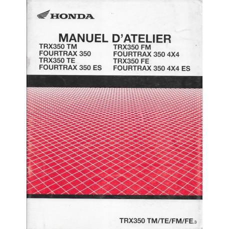 HONDA TRX 350 Fourtrax de 2003 (Manuel additif 07 / 2002)
