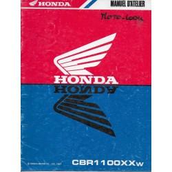 HONDA CBR 1100 XXw de 1998 (manuel additif 08 /1997)