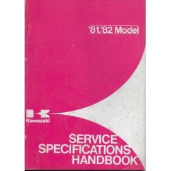 Livre technique entretien gamme KAWASAKI 1981 / 1982