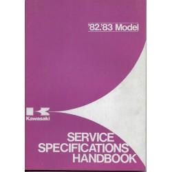 Livre technique entretien gamme KAWASAKI 1982 / 1983