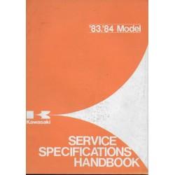 Livre technique entretien gamme KAWASAKI 1983 / 1984