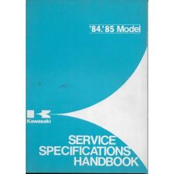 Livre technique entretien gamme KAWASAKI 1984 / 1985