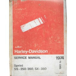 HARLEY DAVIDSON Sprint SS - 250 / 350 - SX 350 (1961 à 1974)