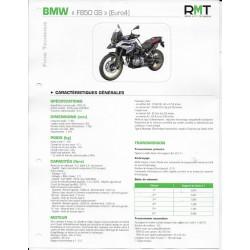BMW F 850 GS (Euro 4) de 2018 à 08 / 2020 (Fiche RMT)