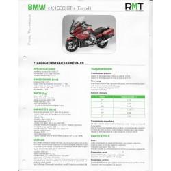 BMW K 1600 GT (Euro 4) de 2017 à 08 / 2020 (Fiche RMT)