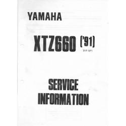 Yamaha XTZ 660 de 1991 / 1994 type 3YF (informations techniques)