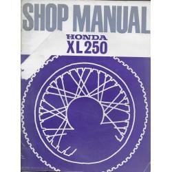 HONDA XL 250 de 1972 (manuel atelier en anglais)