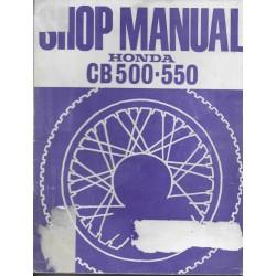 HONDA CB 500 / 550 Four (manuel atelier en anglais 1977)