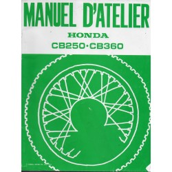 HONDA CB 250 . CB 360 (manuel atelier 1974)