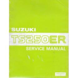 SUZUKI TS 250 ER de 1981 / 1982 manuel atelier (08 / 1981)