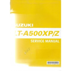 SUZUKI LT-A 500 XP/Z de 2009 (Manuel atelier 12 / 2008)
