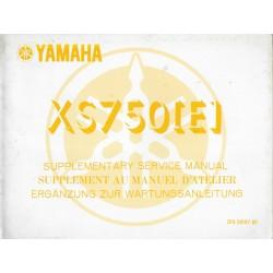 YAMAHA XS 750 (E) type 2F9) (Manuel atelier additif 09 / 77)