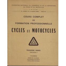 Cours formation cycles et motocycles (3° année) l'allumage