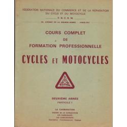 Cours formation cycles et motocycles (2° année) la carburation